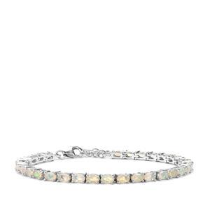 Ethiopian Opal Bracelet in Sterling Silver 4.68cts