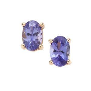 AAA Tanzanite Earrings in 9K Gold 0.95cts