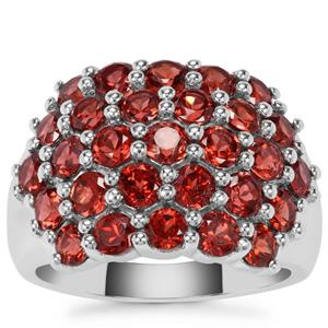 Nampula Garnet Ring in Sterling Silver 4.17cts