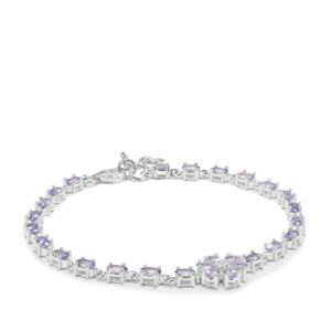 Tanzanite Bracelet in Sterling Silver 5.88cts