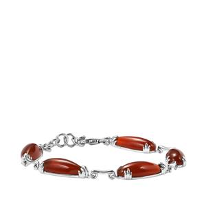 22.09ct American Fire Opal Sterling Silver Bracelet