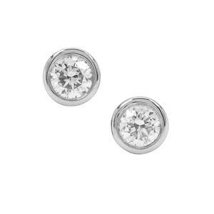 Diamond Earrings in Platinum 950 0.39ct