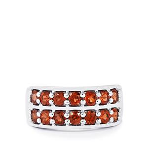 Mozambique Garnet Ring in Sterling Silver 2.10cts