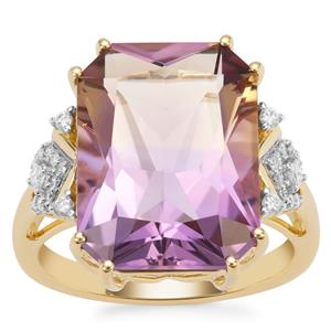 Anahi Ametrine Ring with Diamond in 18K Gold 9.45cts