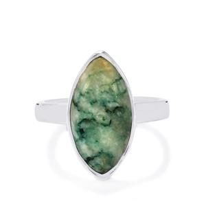 Siberian Mariposite Ring in Sterling Silver 5.54cts