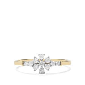 1/4ct Diamond 9K Gold Ring