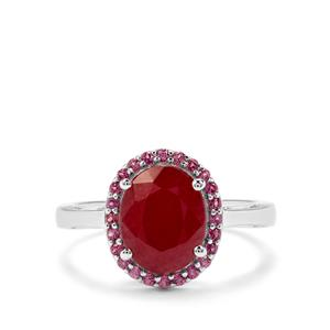 Bangalore Ruby & Rajasthan Garnet Sterling Silver Ring ATGW 3.75cts