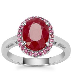 Bangalore Ruby Ring with Rajasthan Garnet in Sterling Silver 3.75cts