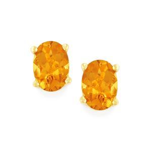 1.45ct Xia Heliodor 9K Gold Earrings