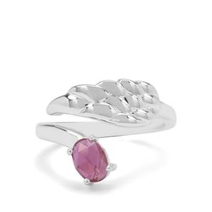 0.85ct Rose Cut Malagasy Ruby Sterling Silver Ring (F)