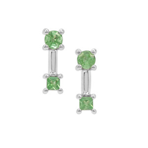 Tsavorite Garnet Earrings in Sterling Silver 0.39ct