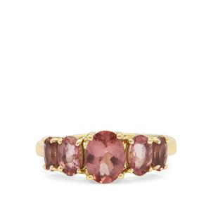 Rosé Apatite Ring in 9K Gold 2.52cts
