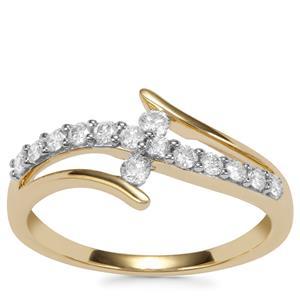 Internally Flawless Diamond Ring in 18k Gold 0.34ct