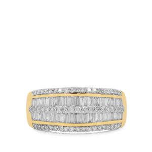 3/4ct SI Diamond 9K Gold Tomas Rae Ring