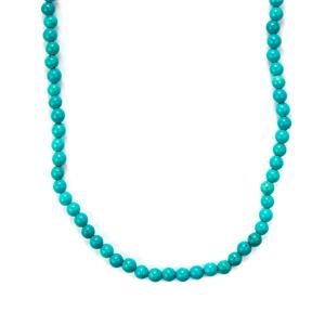 Turquoise Slider Necklace in Sterling Silver 118cts