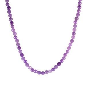 142.50ct Purple Jade Sterling Silver Slider Necklace