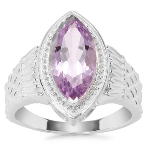 Rose De France Amethyst Ring in Sterling Silver 3cts