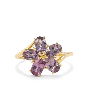 2.35ct Mahenge Purple Spinel 9K Gold Ring