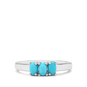 0.49ct Sleeping Beauty Turquoise Sterling Silver Ring