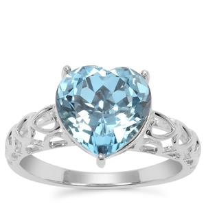 Versailles Topaz Heart Ring in Sterling Silver 4.49cts