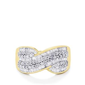 White Diamond Ring  in 10k Gold 0.75ct