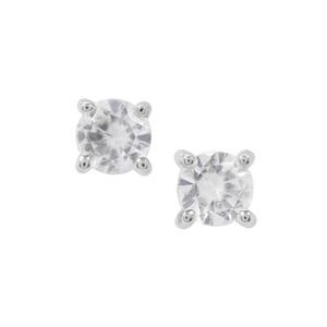 White Zircon Earrings in Sterling Silver 0.66ct