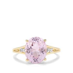 Kolum Kunzite & Diamond 10K Gold Ring ATGW 4.64cts
