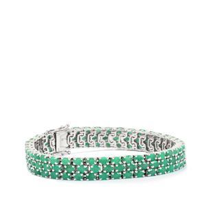 19.20ct Carnaiba Brazilian Emerald Sterling Silver Bracelet