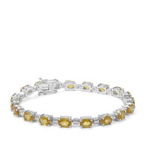 Ambilobe Sphene Bracelet in Sterling Silver 16.39cts