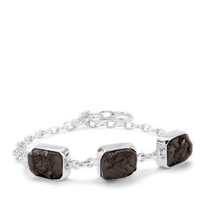 12.95ct Shungite Sterling Silver Aryonna Bracelet