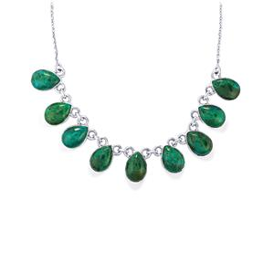 Chrysocolla Necklace in Sterling Silver 51cts