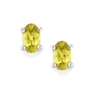 0.50ct Ambilobe Sphene Sterling Silver Earrings