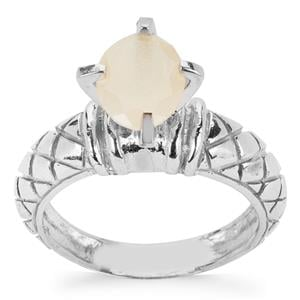 1ct Ethiopian Opal Sterling Silver Ring