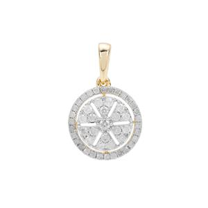 Diamond Pendant in 9K Gold 0.53ct