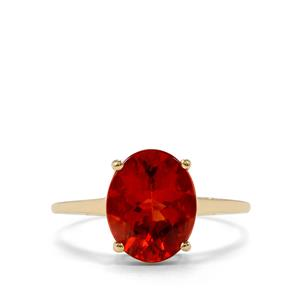 2.39ct Tarocco Red Andesine 10K Gold Ring