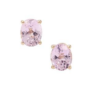 5.15ct Kolum Kunzite 9K Gold Earrings