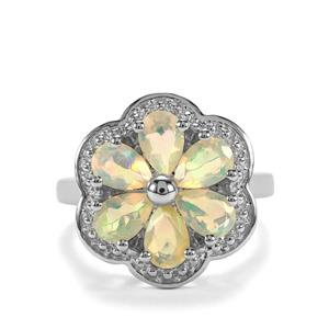 Ethiopian Opal Ring in Sterling Silver 1.64cts