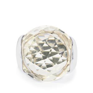 22ct Optic Quartz Sterling Silver Ring