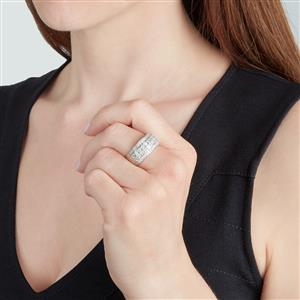Diamond Ring in Sterling Silver 1.35ct