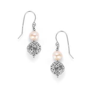 Koari Cultured Pearl Sterling Silver Earrings (7 x 6mm)