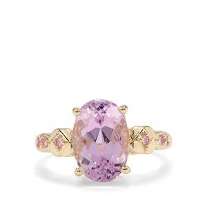 Kolum Kunzite & Pink Sapphire 9K Gold Tomas Rae Ring ATGW 5.14cts