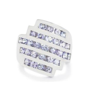 3.11ct Tanzanite Sterling Silver Ring