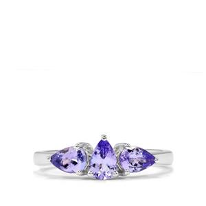 Tanzanite Ring in Sterling Silver 1.15cts
