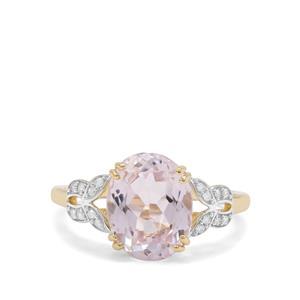 Nuristan Kunzite & Diamond 9K Gold Ring ATGW 4.70cts