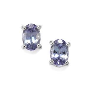 Bi Colour Tanzanite Earrings in Sterling Silver 0.93ct