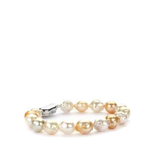 South Sea Cultured Pearl (9x9mm) Bracelet in Sterling Silver
