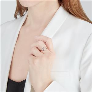 Minas Gerais Kunzite Ring with Diamond in 10k Rose Gold 1.71cts