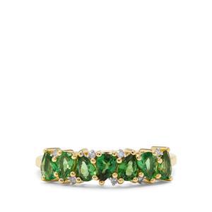 Tsavorite Garnet & Diamond 9K Gold Ring ATGW 1.10cts