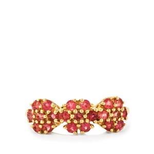 0.70ct Pink Tourmaline 9K Gold Ring