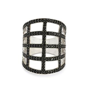 2.11ct Black Spinel Sterling Silver Ring